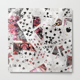 Abstract  Playing Cards Digital art Metal Print