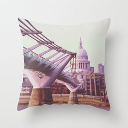 St. Pauls Cathedral and the River Throw Pillow