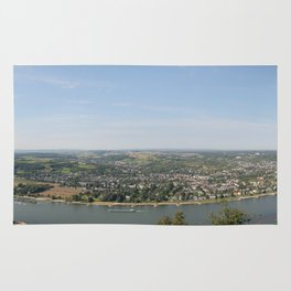 Rhine Valley from Drachenfels Panorama Rug