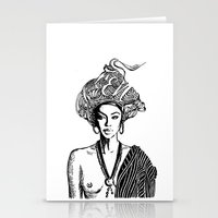 goddess Stationery Cards featuring Goddess by Fen_A
