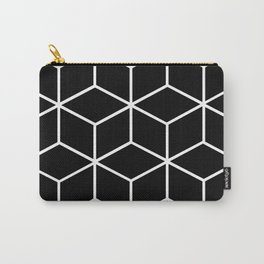 Black and White - Geometric Cube Design II Carry-All Pouch