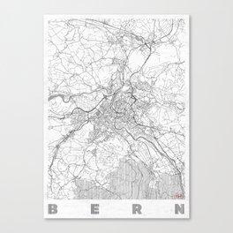 Bern Map Line Canvas Print