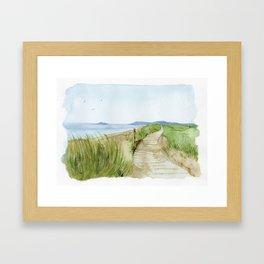 Inverness Beach Framed Art Print