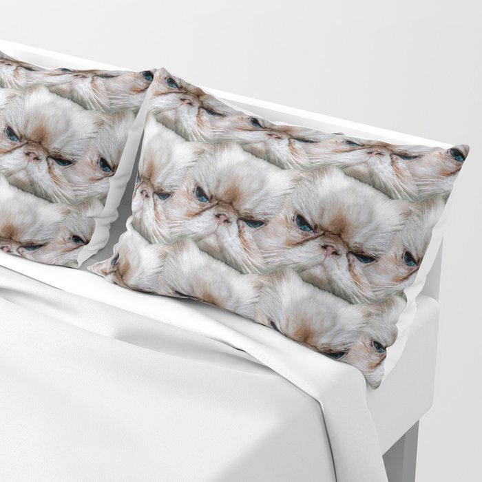 Muggles, the Sassy Cat with Cattitude! Pillow Sham