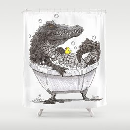 Bubble Bath (Pen & Ink) Shower Curtain