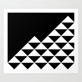Abstract geometric pattern - black and white. Art Print