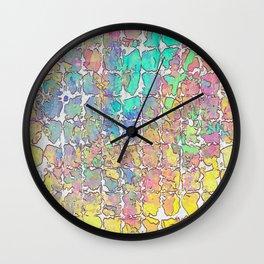 Pastel Abstract Blocks Wall Clock