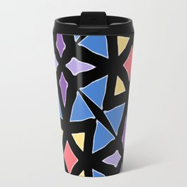 Stained Glass Color Pattern Art Travel Mug