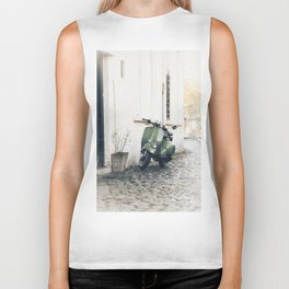 Green Moped Biker Tank