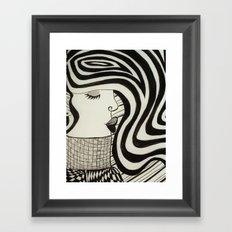 woman in a sweater Framed Art Print