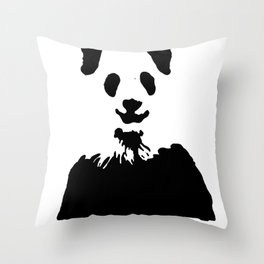 Pandas Blend into White Backgrounds Throw Pillow