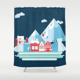Swiss Shower Curtain