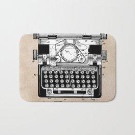 patent art typewriter Bath Mat