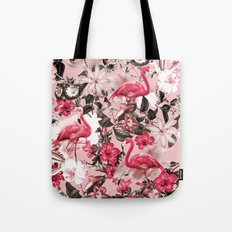 Floral and Flemingo III Pattern Tote Bag