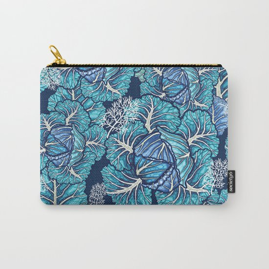 blue winter cabbage Carry-All Pouch