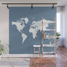 French Gray Elegant World Wall Mural