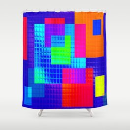 Re-Created SwatchesIII by Robert S. Lee Shower Curtain