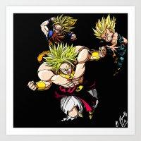 dragonball z Art Prints featuring Broly Dragonball Z by bernardtime