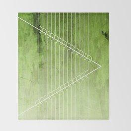 Disrupt - Green Throw Blanket