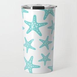 Sweet Starfish Pattern 235 Aqua Travel Mug