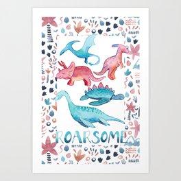 Roarsome Dino's Art Print