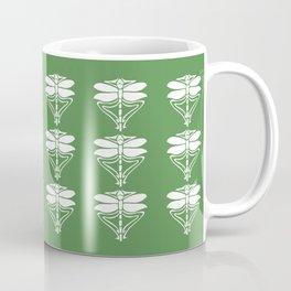 Teak Arts and Crafts Dragonflies Coffee Mug