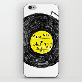 you are what you listen to, YELLOW iPhone Skin
