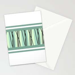 green multicolored lines abstract Stationery Cards