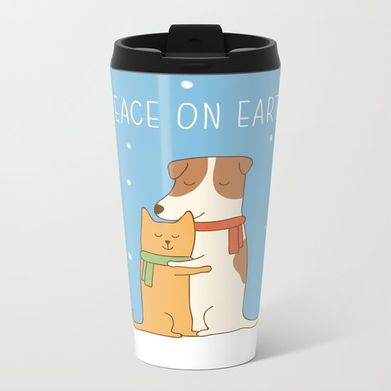peace on earth Metal Travel Mug