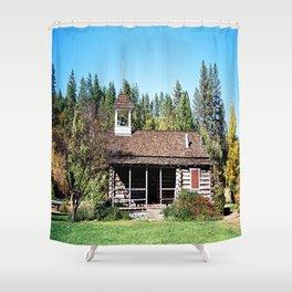 Historical Blanchard Flat Schoolhouse... Shower Curtain