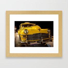 COOL CLASSIC NIGHT TAXI Framed Art Print