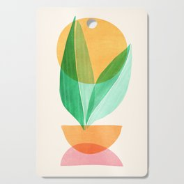 Summer Stack / Abstract Plant Illustration Cutting Board