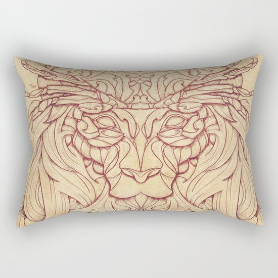 Lion Crab Rectangular Pillow