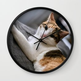 Cat by Curtis Thornton Wall Clock