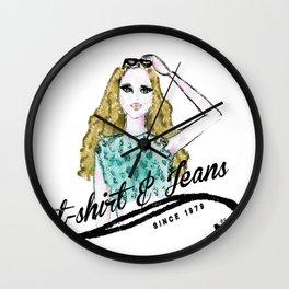 t-shirt&jeans Wall Clock
