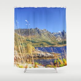 Exploring the Fjord Shower Curtain