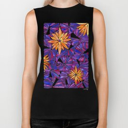 Water Lilies – Purple & Orange Palette Biker Tank