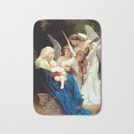 Madonna with Infant Jesus and Angels Virgin Mary Art Bath Mat