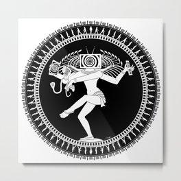 Manipulated Shiva Metal Print