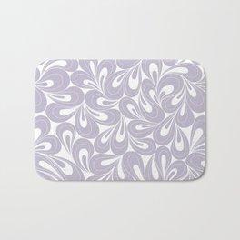 Violet Petals hand drawn elegant surface pattern for girls Bath Mat