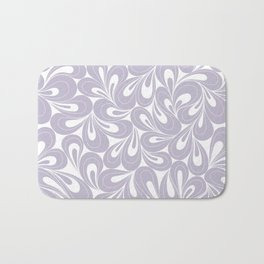 Violet Petals hand drawn elegant surface pattern for girls Bath Mat