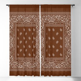 Bandana - Classic Brown - Paisley - Southwestern  Blackout Curtain