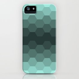 Teal Mint Honeycomb iPhone Case