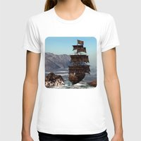 pirate ship T-shirts featuring Pirate Ship by Simone Gatterwe