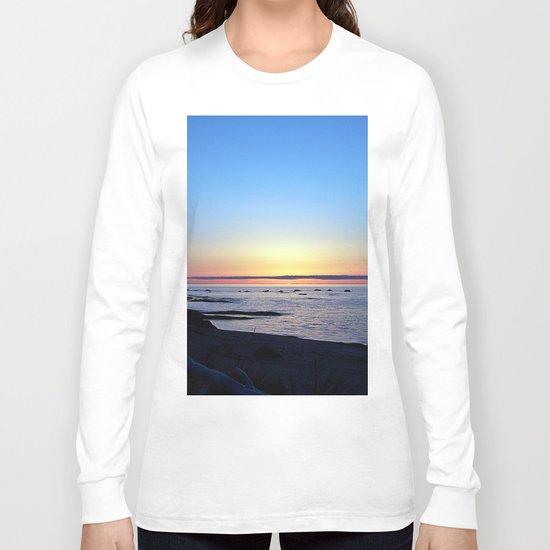 Sun Sets up the River, Across the Sea Long Sleeve T-shirt