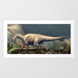 Iguanodon Bernissartensis Restored Art Print