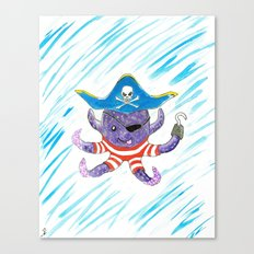 Pirate Octopus Canvas Print