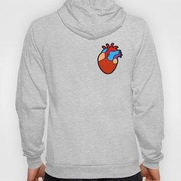 Anatomical Heart Pattern Hoody