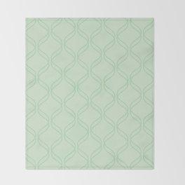 Double Helix - Light Greens #769 Throw Blanket