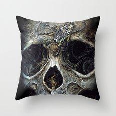 goliath skull Throw Pillow